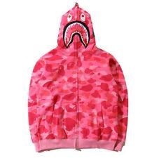 Hot Ape BAPE Men's Shark Jaw Camo Full Zipper Hoodie Sweats Coat Jacket Popular