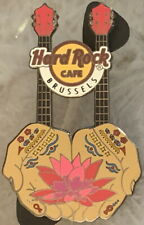 Hard Rock Cafe BRUSSELS 2013 Vicente Ferrer Charity DN GUITAR PIN - HRC #72539