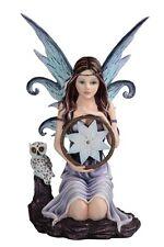 "10.5"" Star Fairy with Owl Statue Figurine Figure Fantasy Home Decor"