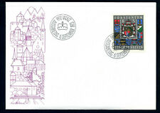 Liechtenstein 1973 FDC coats of arms / wappen