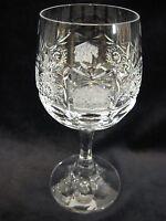 "Vintage Boheimian Cut Crystal Glass Stem Wine Goblet, 5 3/4"" Tall X 2"" Diameter"