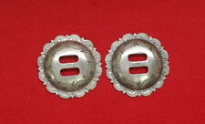 Two * Sterling * Silver * Conchos * Vintage