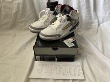 beb4db275a7 2007 Nike Jordan Spizike White Cement Grey Var Red Black Sz 9.5 (315371-101