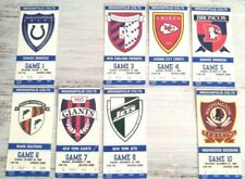 Very Rare Set Of Eight (8) Ticket Stubs From Indianapolis Colts 1990 Home Games