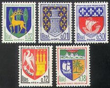 France 1964 French Towns Coats-of-Arms/Heraldry/Ships/Lions/Castle 5v set n41769