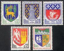 FRANCIA 1964 città francese cappotti di braccia/araldica/NAVI/Leoni/CASTLE 5v Set n41769