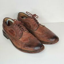 THE FRYE COMPANY BROWN LEATHER JAMES WINGTIP DRESS OXFORD SHOES 10.5 B