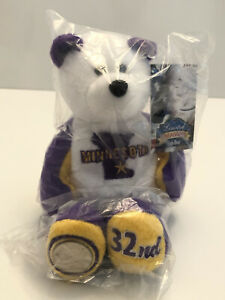 """MINNESOTA State Quarter Coin Bear - 32nd State. Plush 8"""" Limited Treasures"""