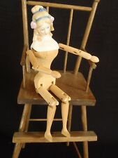 Elegant Wood Body Parian Doll Bisque shoulder head 9.5� tall, ready to dress