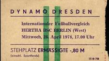 Ticket 26.04.1978 Dynamo Dresden - Hertha BSC
