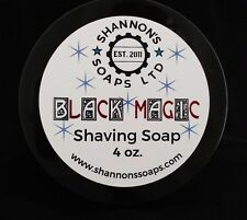 Shannon's Soap Shaving Soap: Black Magic. Tallow/Lanolin/Essential Oil 4 ounce.