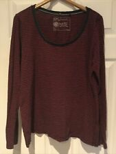 Fat Face Size 16 Long Sleeve Striped Top Used Nice Condition
