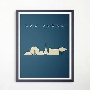 Las Vegas Las Vegas Silhouette Travel Print Landmark Poster Minimalist Artwork