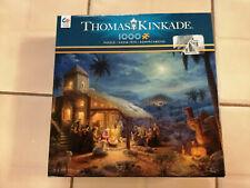 Thomas Kinkade The Nativity 1000 Piece Puzzle Nice Free Shipping A2
