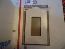 Lutron wallplate Cw-1-Wh no visible screws single wallplate new case of 12