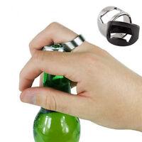 1 PC Simple Stainless Steel Finger Ring Bottle Opener Bar Beer tool HOT