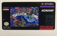 Teenage Mutant Ninja Turtles IV Cartridge Replacement Game Label Sticker Precut