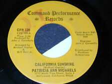 Private Folk Pop 45 PATRICIA ANN MICHAELS CAL SUNSHINE!