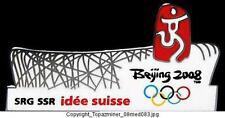 OLYMPIC PINS 2008 BEIJING CHINA SRG SWITZERLAND MEDIA