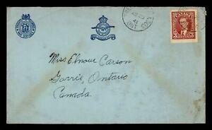 Canada 1941 WWII Patriotic Cachet Cover - Trenton Military P.O. 303 - ph20