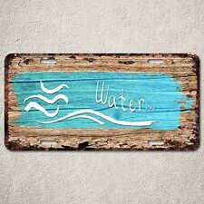 LP0266 Water wood Rust Auto License Plate cafe Home Room Wall Door Decor sign