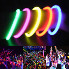 100X Mixed Colors Glow Sticks Bracelets Neon Night Light Flashing Party Favors