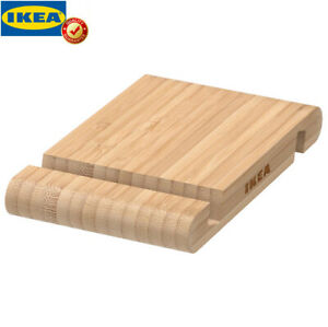 IKEA BERGENES Halter für Mobiltelefon/Tablet Bambus Halterung Ständer NEU