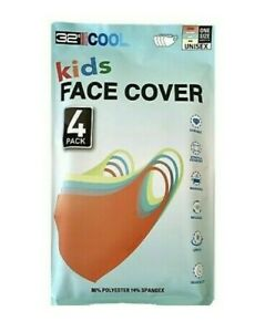 32 Degrees Cool Kids Face Cover / Face Mask Washable One Size 4-pack