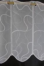 m/€15,94 Scheibengardine Gardine Bistrogardine weiß 013447 45 cm hoch bestickt
