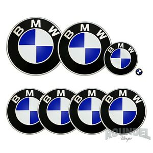 For BMW Badges - Gloss Brilliant Blue - All Models Decals Wrap Stickers Overlays