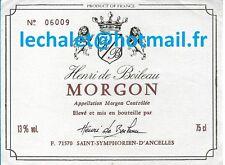 Authentique étiquette de MORGON