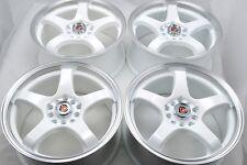 16 white Wheels Rims Matrix Corolla Elantra Outback XB Neon Accord 5x100 5x114.3