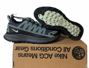 Nike ACG Air Nasu GORE-TEX CW6020-300 Clay Green Sneakers Men Size 8.5 No Lid