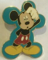 Mickey BLUE Quizzical  Expressions Booster disney  pin