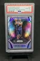 Zion Williamson 2019-20 Panini Prizm Fireworks Silver RC Rookie PSA 10 LOW POP!