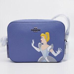 NWT Coach C3406 Disney X Coach Mini Camera Bag With Cinderella Periwinkle Multi