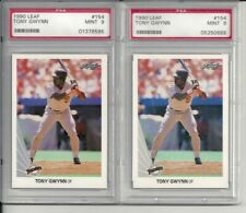 1990 Leaf Tony Gwynn #154 PSA 9 Mint (2) Two Card Lot