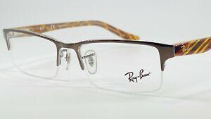 RayBan RB6196 Men's Semi Rimless Eyeglass Frame 2664 Brown 52-17