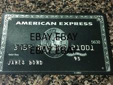 James Bond Novelty BLACK METAL AMERICAN EXPRESS AMEX Credit Card PROP Replica