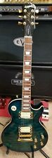 1999 Epiphone Les Paul Quilt Top Translucent Blue. Made in Korea  w/Hard Case