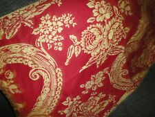 Rose Tree Bordeaux Red Gold Paisley Medallion Sateen (1) King Pillow Sham 21X36