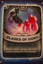 Skylanders Battlecast Collector's Card Gear Blades of Gory