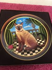 Uncle Tad's Peaches and Cream & Princess Aurora Collector Cat Plates
