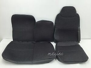 "ISUZU NPR,NQR,GMC W SERIES REPLACEMENT SEAT COVER MORDURA-STEEL GRAY""FULL SET"""