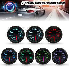 2'' 52mm 7 Color Car Digital LED Display PSI Oil Pressure Gauge Meter & Sensor