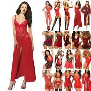 Christmas Women Babydoll Lingerie Gstring Bodysuit Nightwear Underwear Sleepwear