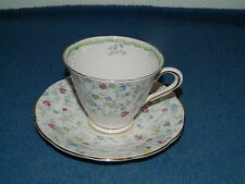 Tuscan Fine English Bone China Floral Pink Yellow Green Tea Cup & Saucer