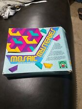 Discovery Toys MOSAIC MYSTERIES Puzzle Pattern Blocks Vintage 1992