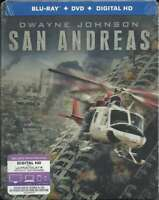 SAN ANDREAS (Dwayne Johnson) Exclusive Steelbook Blu-Ray+DVD+Digital HD