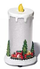 Avon Holiday Light-Up LED Candle; 2014, Santa's Train, Factory Sealed